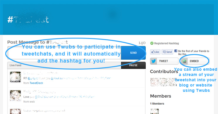 using twubs for tweetchats