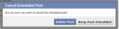 Delete a Scheduled Post on Facebook