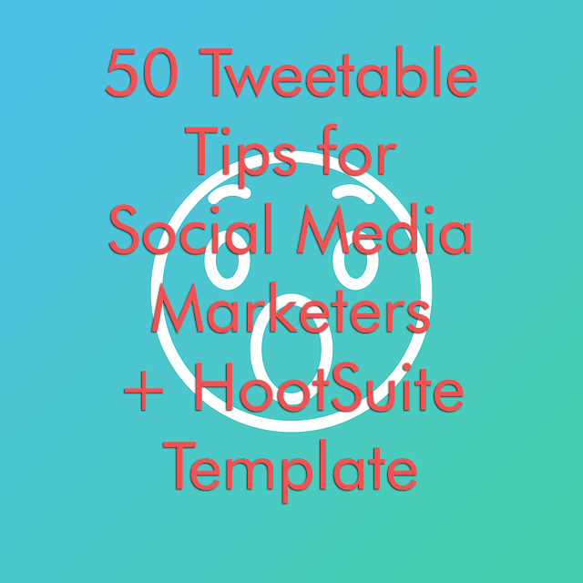 A Wow face for how many tweetable tips for social media marketers this article has