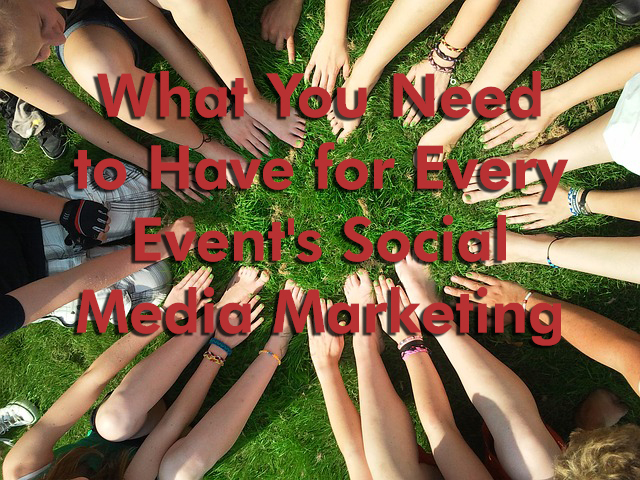 A social media marketing team in a circle